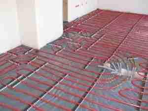 Aangename temperatuur in huis met vloerverwarming