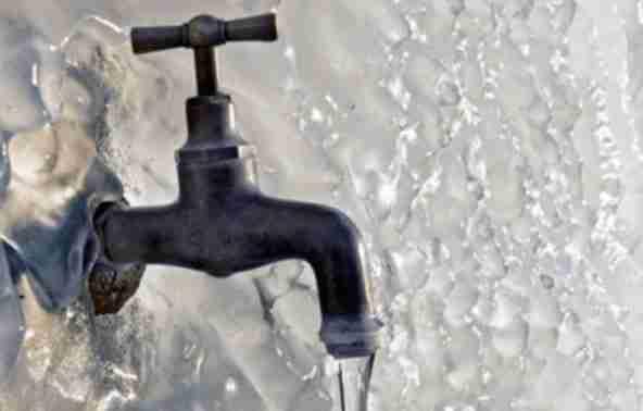 bevroren waterleiding