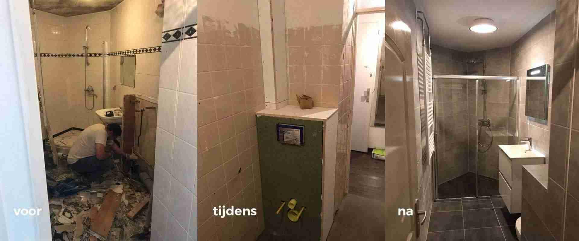 Voor Tijdens Na de Badkamerverbouwing | Installatie Service Amsterdam